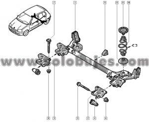 Caucho puente trasero Citius Taxi 2009 catalogo