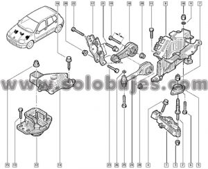Soporte motor derecho Citius Taxi 2009 catalogo